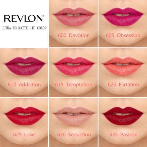 Revlon Ultra Hd Matte Lipcolor - Cores Seduction Ou
