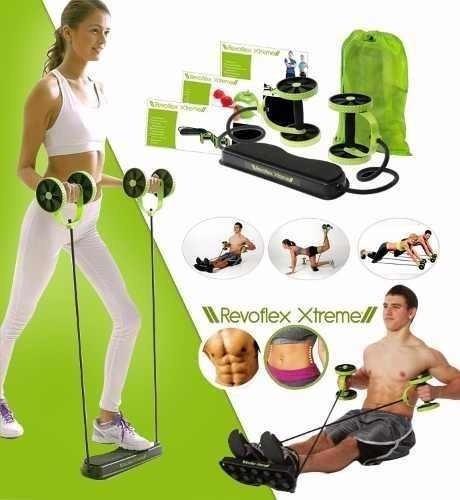 revoflex tv ruedas abdominales + guía ejercicios + bolso