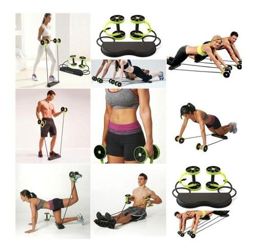 revoflex tv ruedas abdominales + guía ejercicios + bolso +ob