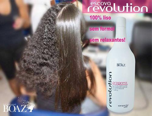 revolution progressiva boaz hair * 0% formol * 100% liso 1lt