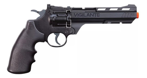 revólver co2 crosman vigilante 4,5mm + chumbinhos - 701  708