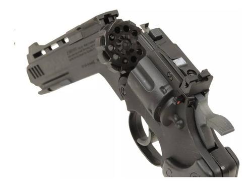 revólver co2 crosman vigilante 4,5mm chumbinhos ou esferas