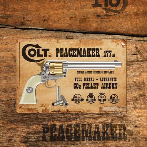 revolver coltsaa.45 nickel/gold co2 steelbb4.5mm (.177) 7,5