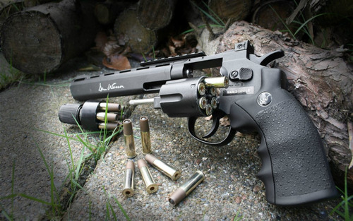 revolver de co2, dan wesson 8  , 426fps, full metal, cal 4.5