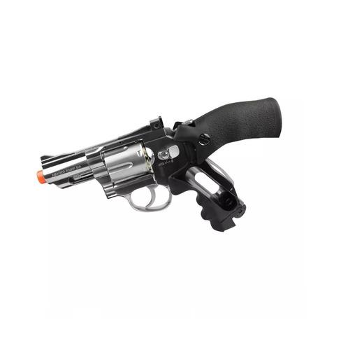 revólver pressão rossi 708s ni co2 4.5mm-ñ tem ponta laranja