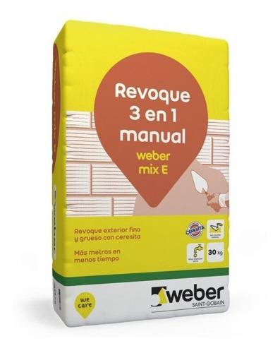 revoque 3 en 1 manual weber rev mix exterior x 30kg