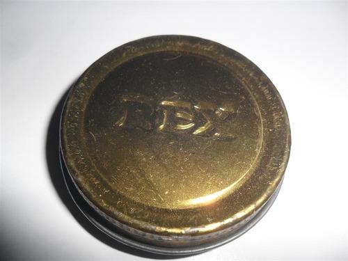 rex crema para calzado eltes antigua lata latita hojalata
