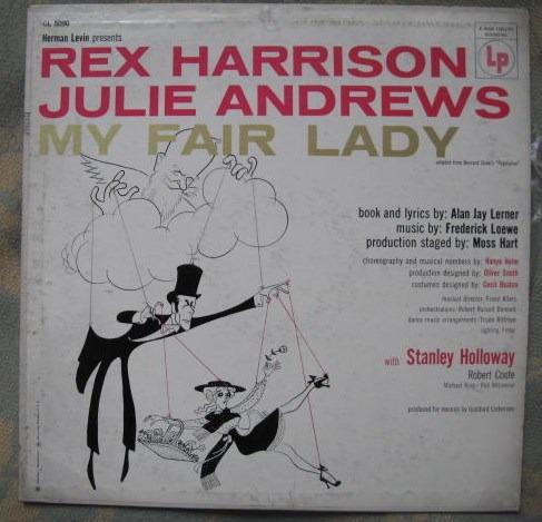 rex harrison, julie andrews - my fair lady (columbia ol 5090