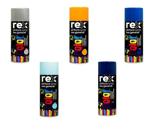 rex pintura spray general colores varios 400 ml