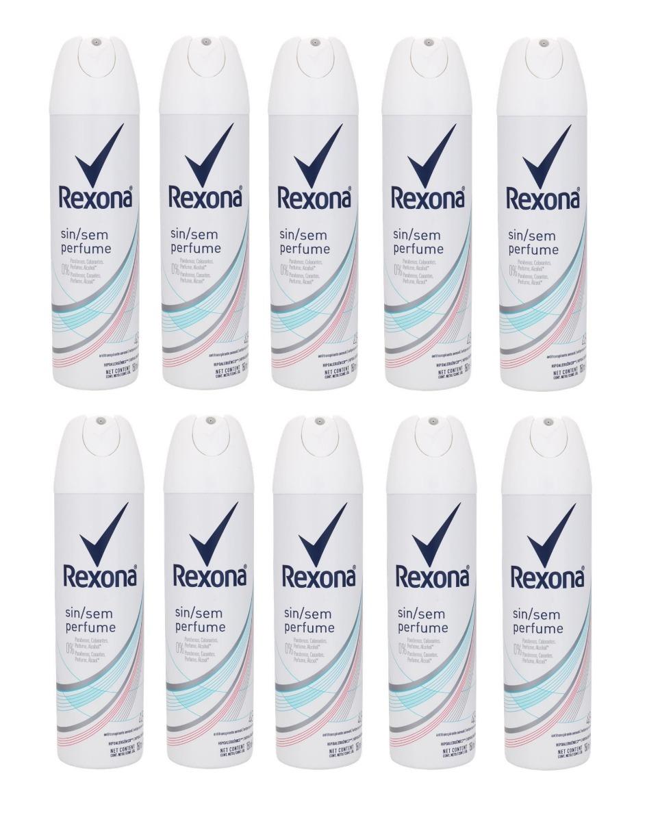 23e94fa26b rexona aerosol sem perfume feminino 150ml 10 unidades. Carregando zoom.