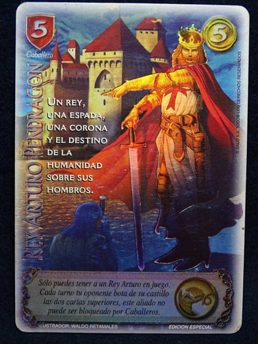 rey arturo espada sagrada carta promo mitos leyendas myl