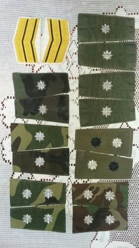 rezago militar lote jerarquías insignias ejército argentino