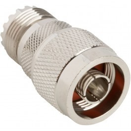 rf adapter, ug-146/u, n type plug to uhf jack, 50 ohm