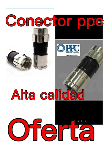 rg6 conectores de compresion  perfect vision 50 unid
