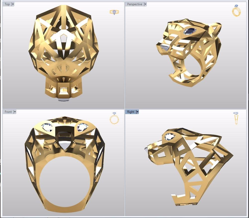 02e65a8819c rhinogold 6 - modelo 3d para impressão - anel cartier stl. Carregando zoom.