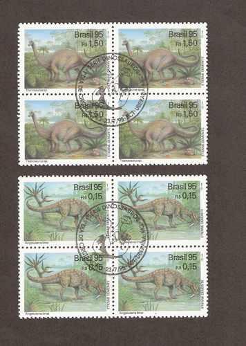 *rhm c-1951/ 52- série em quadra c/ cbc -dinossauros