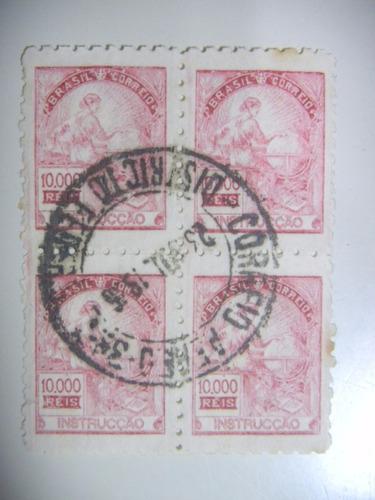 rhm r 241 - instrucção - filigrana casa moeda - quadra -1932