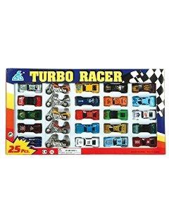 rhode island novelty turbo racer die cast car y motos set 25