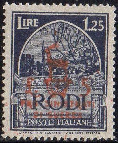 rhodes - túmulo do cruzado - 1944 - semi-postal c2