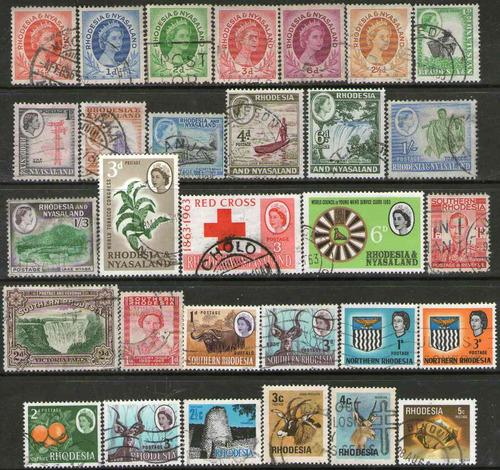 rhodesia 30 usados de todas las rhodesias años 1932/78