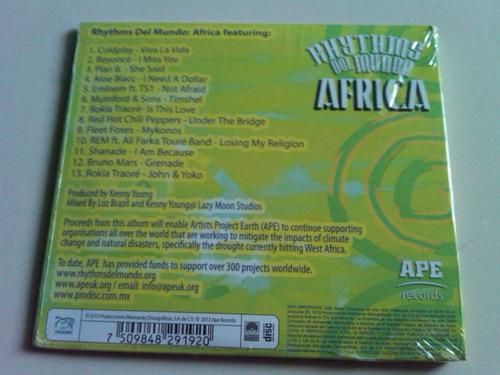 rhythms del mundo africa cd nuevo coldplay rem red hot bruno