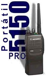 rib interface programación radiotransmisor portátil pro5150