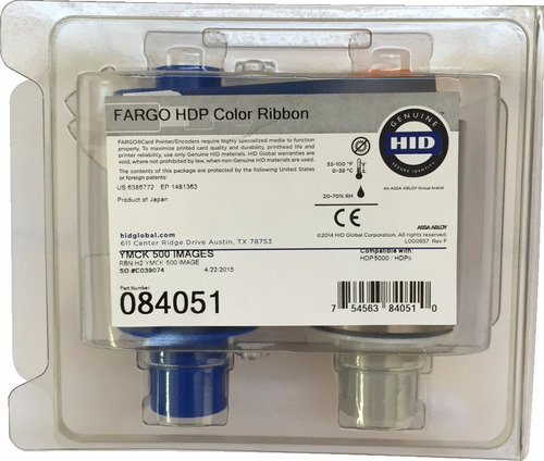 ribbon color ymck - fargo hdp5000 (500 impressões)