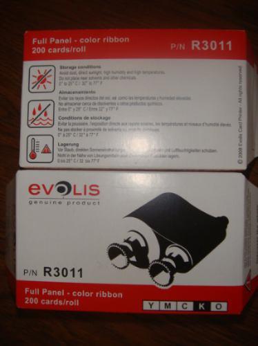 ribbon para impresora evolis ymcko pebble r3011