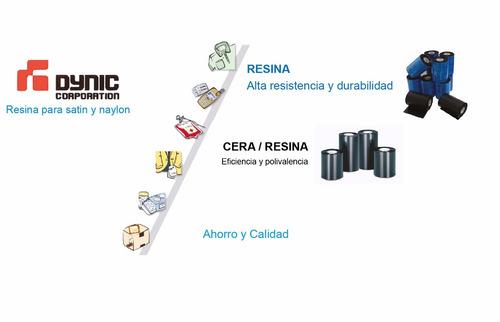 ribbon zebra dynic resina 110x74 impresora gc420t, tlp2844