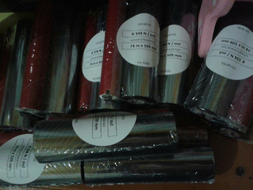 ribbons 110 x 74  cera para impresora zebra