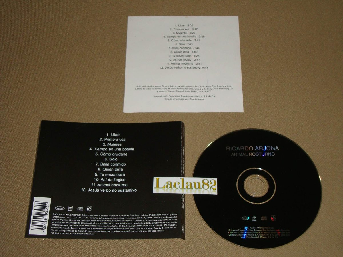 album animal nocturno ricardo arjona mp3