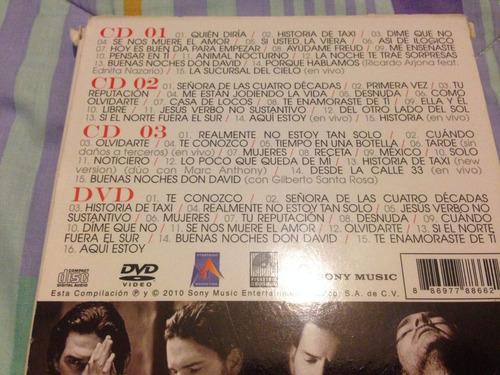 ricardo arjona (lo esencial de: 3cds + dvd sony-886621) box
