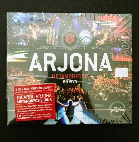ricardo arjona metamorfosis vivo nuevo 2 cd + dvd sellado