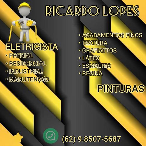 ricardo lopes serviços elétricos  e pinturas residenciais