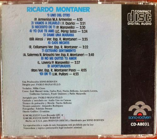 ricardo montaner. cd original, usado