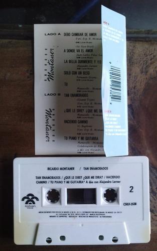 ricardo montaner tan enamorados cassette rarisimo 1a ed  fdp