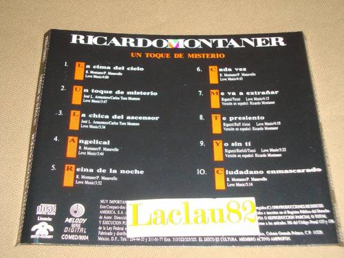 ricardo montaner un toque de misterio 1990 melody cd