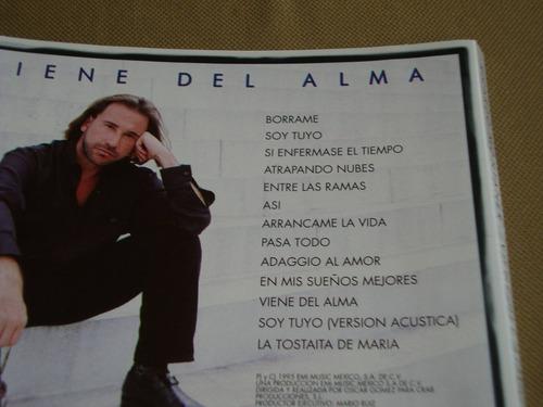 ricardo montaner viene del alma 1995 emi cd