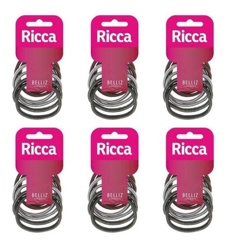 ricca 900 elástico p/ cabelo 7mm (kit c/06)