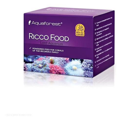 ricco food 20g aquaforest alimento para ricordia, zoanthus, mush e ração para corais softs