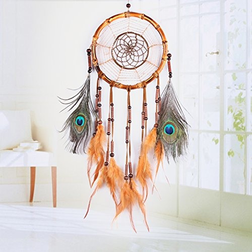 ricdecor hecho a mano de pavo real de la india plumas dream