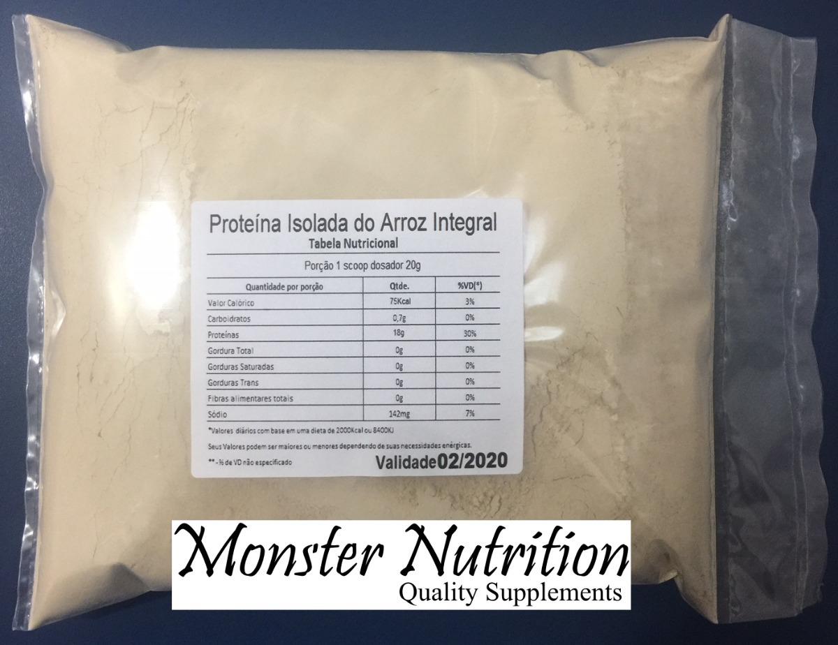 f0c363a9e Rice Protein Isolado - 1kg - Proteina Do Arroz - Menor Preço - R  76 ...