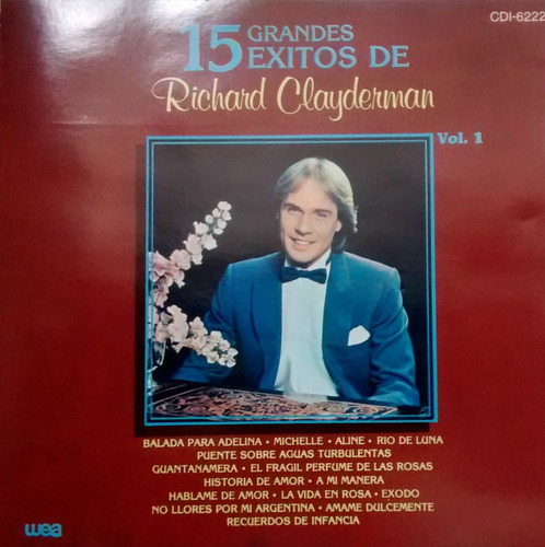 richard clayderman / cd / 15 grandes exitos