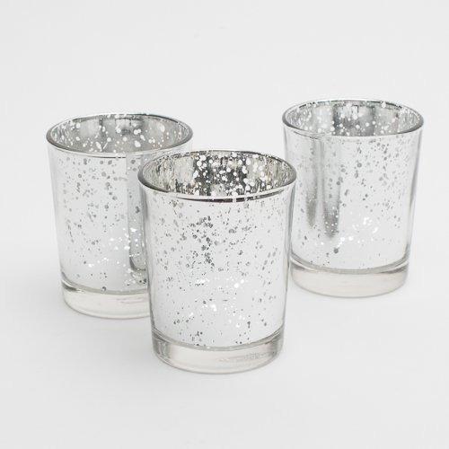 richland plata mercurio votive candle holders conjunto de 1