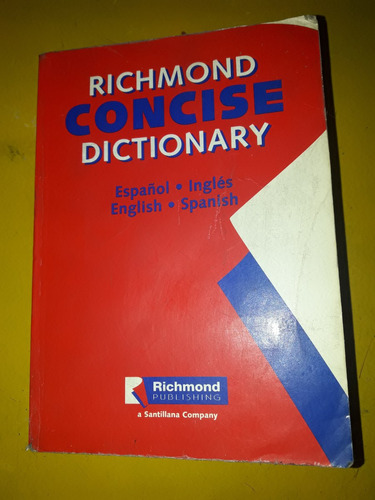 richmond. concise dictionary. español inglés.