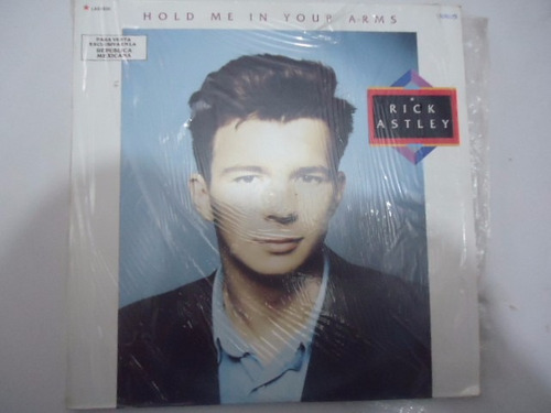 rick astley / hold me in your arms vinyl lp acetato