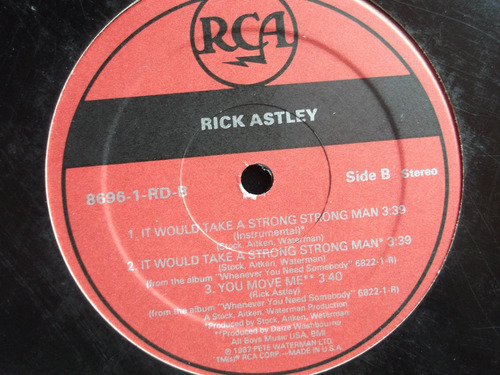 rick astley - it would take a strong strong man - 4 tracks