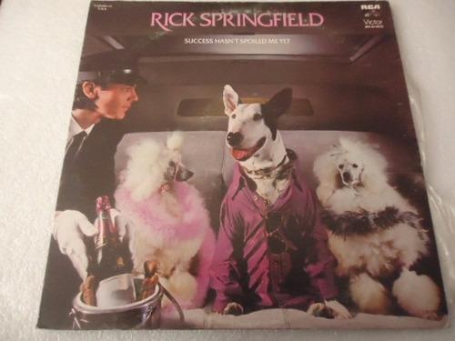 rick springfield / success hasn't spoiled vinyl lp acetato