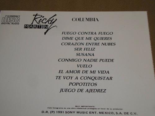 ricky martin homonimo 1991 columbia cd