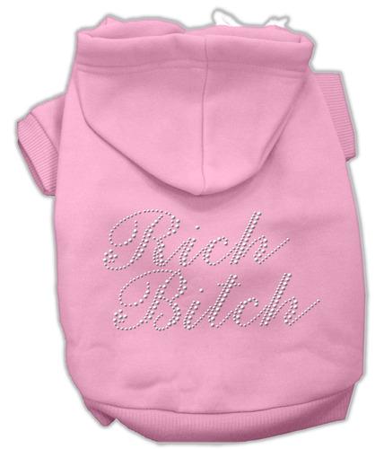 rico perra diamante de imitación hoodies rosa xxl (18)